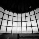 Innenansicht des 1826 erbauten Leuchtturms am Kap Arkona auf der Insel Rügen.