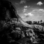 Gesteinsformationen am Lamai Beach