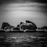 Gesteinsformationen am Strand von Lamai Beach