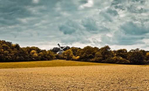 Das Freilichtmuseum in Detmold, Landschaft mit Windmühle - Fotograf metapherschwein.de