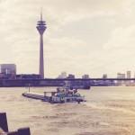 Die schöne Düsseldorfer Skyline mit Rheinturm