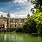 Blick auf Schloss Hämelschenburg, die Perle der Weserrenaissance