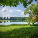 Blick zum mittleren Bereich des Rintelner Doktorsees, hier ist das Paradies für Camper